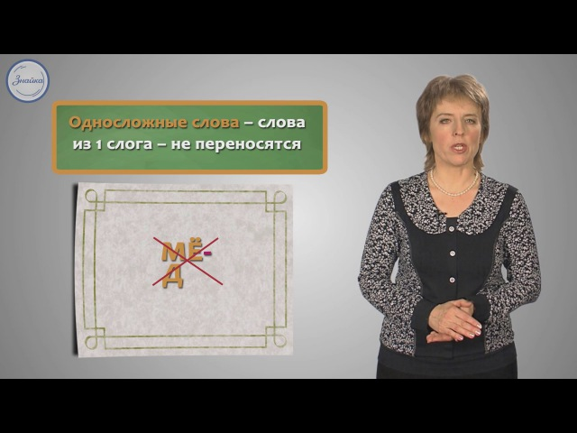 Русский 1 класс Правила переноса слов с одной строки на другую