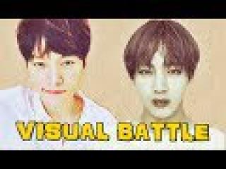 TAEHYUNG (BTS) VS MYUNGSOO (INFINITE) -VISUAL BATTLE