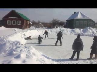 март 2018 хоккей в Стёпаново