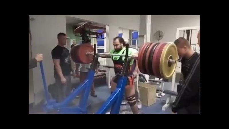 Zahir Khudayarov RAW Squat 455 x 2