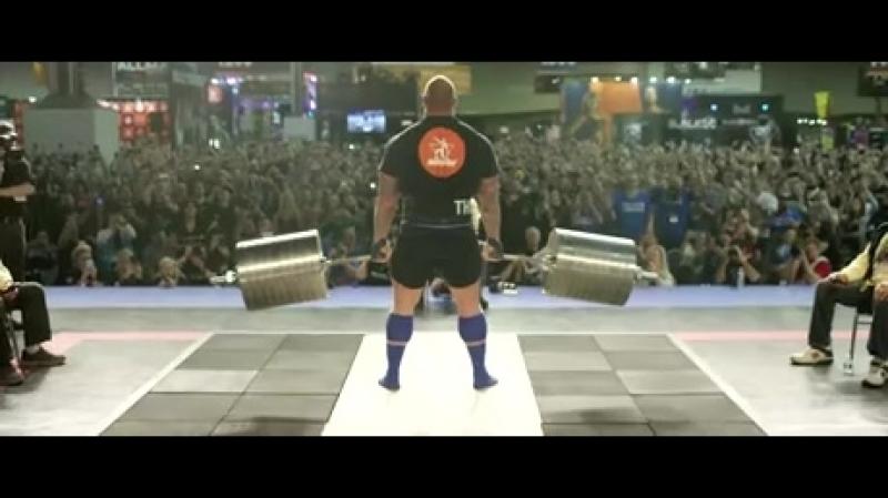 Хафтор Бьёрнссон Мировой рекорд Становая тяга 472кг