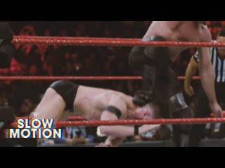 (Wrestling Premium) Stunning slow-motion footage of Seth Rollins finishing off Finn Bálor: Exclusive, Jan. 18, 2018