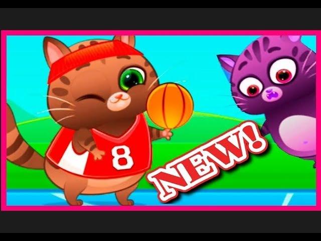 Котик Бубу играть скачать игры для детей Играем в Футбол, Баскетбол Kotik Bubu