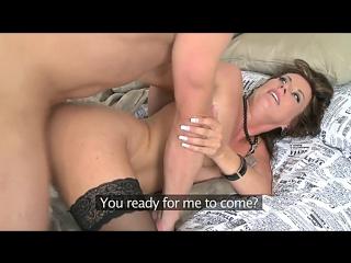 Celine noiret. отличный успокаивающий трах перед поездкой с суперской мамочкой. sexy milf cougar tits stockings lingerie hardcor