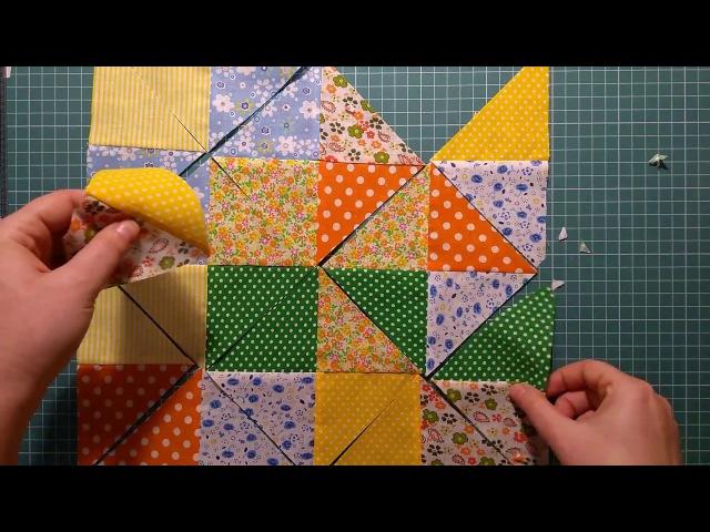 Пэчворк для начинающих. 4 способа превратить квадраты в блок песочные часы ускоренным методом