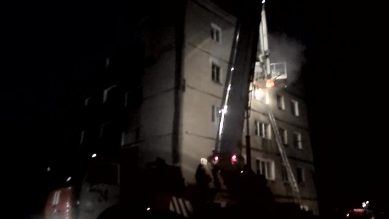 Пожар в Новоомском часть 2