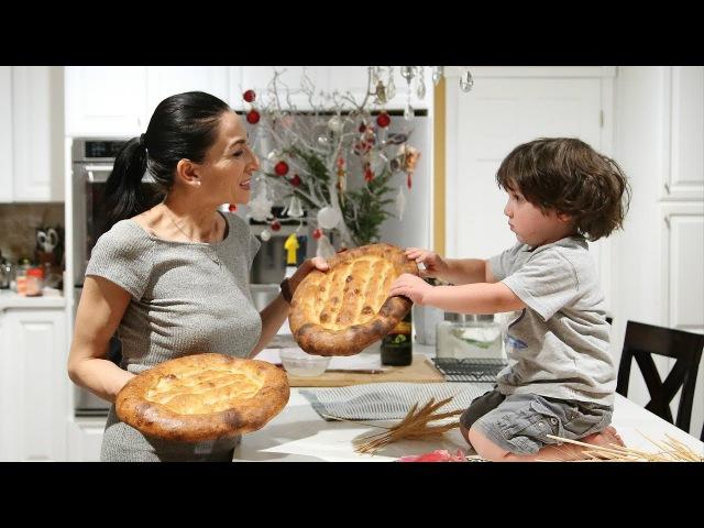 Մատնաքաշ Armenian Flatbread Matnakash Recipe Heghineh Cooking Show in Armenian