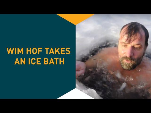 Icebath wim hof, the Iceman