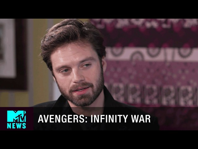 Sebastian Stan Talks 'Avengers Infinity War' Graffiting Chris Evans' Face MTV News