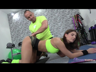 [fitnessrooms] jennifer jane fit brunette has a creampie workout [2018, gym, ass licking, pussy licking, blowjob, 720p]