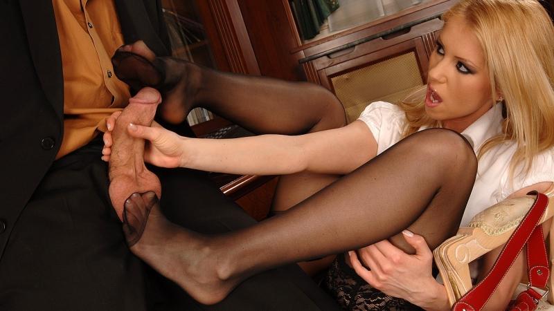 Lesbian sock fetish feet