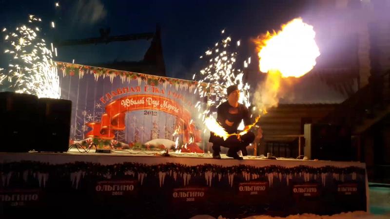Огненное Фаер шоу Выдувание огня Бризинг Шоу-проект Самум г Нижневартовск Мегион Стрежевой Радузный Лангепас Шоу на праздник