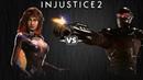 Injustice 2 - Старфаер против Дедшота - Intros Clashes rus