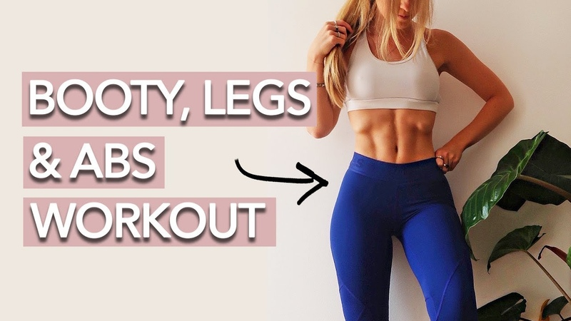 Holly Dolke - 15 Min Abs, Booty and Legs Workout | Низкоударная баррная тренировка от проблемных зон
