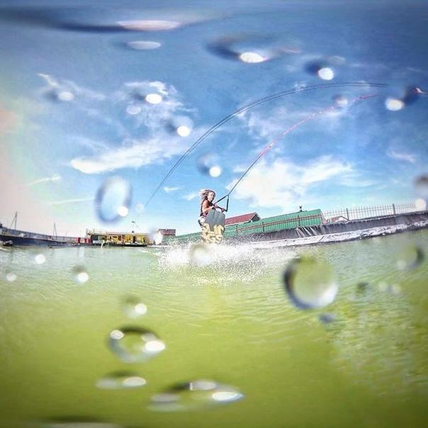 Виктория Тютина: #wakedacha #slingshot  #wakegirl