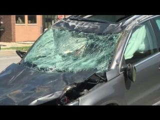 Chicago fire soccer player taken to hospital after dramatic crash