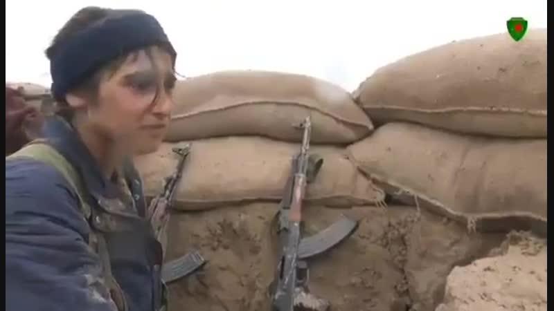 Очередное пропагандистское выступление курдянок на камеру (К северу от Хаджина, ноябрь 2018)