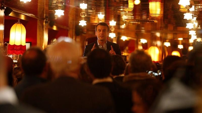 Macron à La Rotonde Je n'ai pas de leçon à recevoir du petit milieu parisien