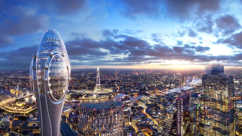 Foster Partners designs bulbous tourist attraction tower for London
