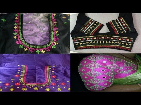 Latest Hand Embroidery Kutch Work Blouse Designs