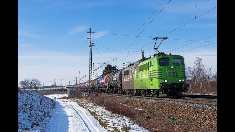 Bunter Güterzug Verkehr aus Zeithain Bogendreieck HSL CD Cargo Metrans ITL uvm