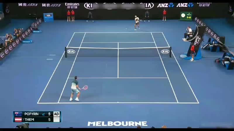 Dominic Thiem smashes the racquet AUSTRALIAN OPEN 2019