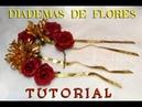 TUTORIAL - 🌺Diademas de Flores 🌼 Flower Diadem Corona DIY | auroramakeup