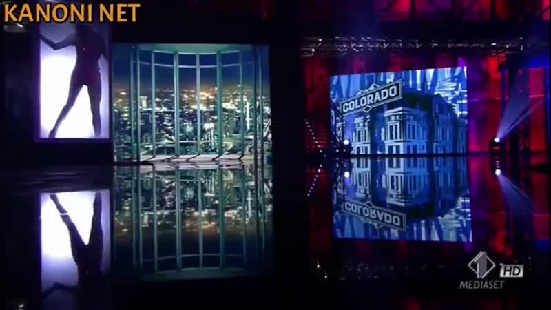 Ria Antoniou braless in wet t shirt in Italian tv show Colorado KANONI NET