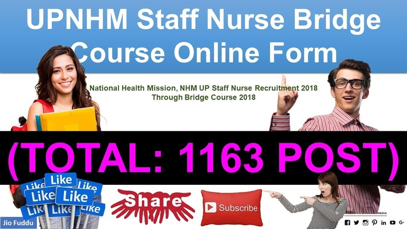 UPNHM Staff NurseBridge Course Online Form 2018