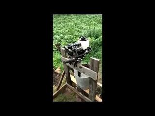 Обкатка лодочного мотора Hidea 3