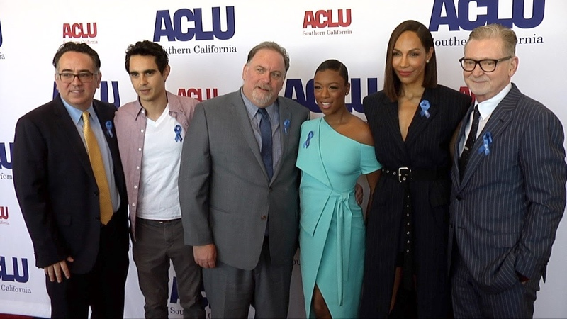 Samira Wiley, Amanda Brugel, Max Minghella 2018 ACLU SoCal Annual Luncheon Red Carpet