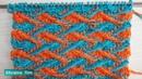 Punto Zig Zag de 2 colores en relieve Jacquard Tejido con 2 agujas Tutorial 622