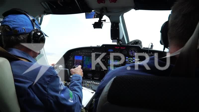 Ученые следят за дельфинами в Черном море с самолета