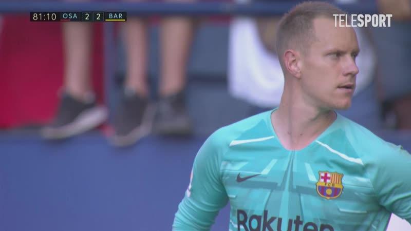 «Осасуна» — «Барселона». Дубль Роберто Торреса