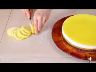 А вот и лимонный чизкейк  легко, свежо, вкусно и так же красиво