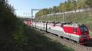 Грузовые и пассажирские поезда России. Поезд из Китая. Иркутск