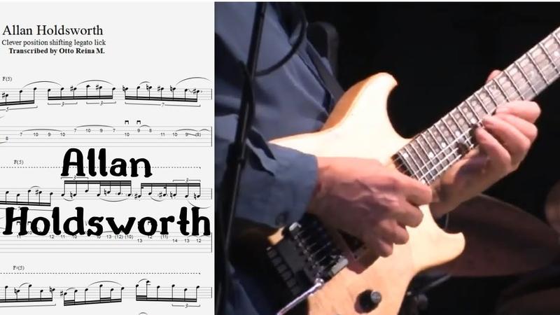 Allan Holdsworth INSANE position shifting LEGATO w mini sweeps