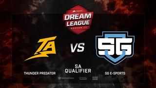 Thunder Predator vs SG e-sports, DreamLeague Season 11, SA QL, bo3, game 1 [Lum1Sit]