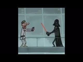 Star wars cartoon - lightsaber vibrator