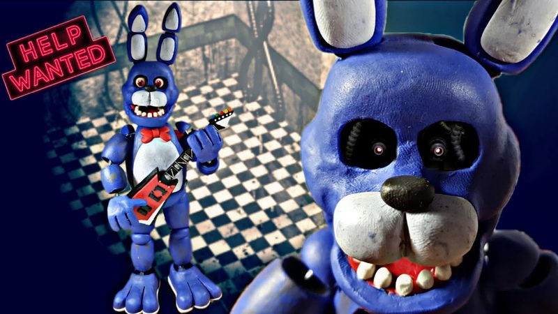 BONNIE THE BUNNY 😱😱(FNAF 1UCNFNAF HELP WANTED) (REMAKE) PLASTILINA✔✔✔ PORCELANA✔✔ POLYMER CLAY✔