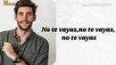 Alvaro Soler - No Te Vayas (Letra)