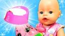Видео про игрушки для малышей. Учим куклу Беби Бон!