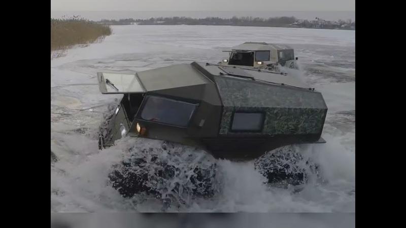 Eis Wasser Gelände Der Extrem Offroader Sherp nimmt jedes Hindernis