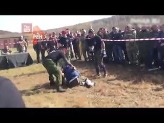 Видео с соревнований в Хабаровске, где погиб боец Росгвардии.
