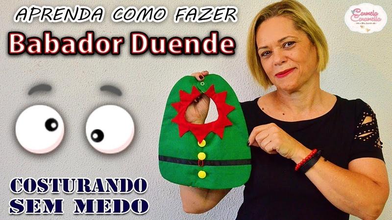 Costurando sem Medo Babador Festivo Edição de Natal Duende