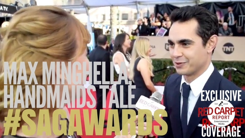 Max Minghella HandmaidsOnHulu interviewed on the 24th Screen Actors Guild Awards Red Carpet