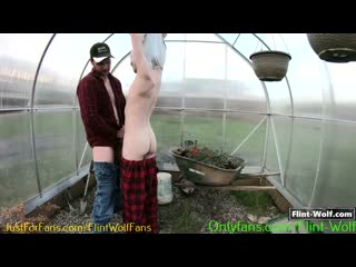 Redneck Gardener Fucked Me Outside In The Greenhouse - free gay video by