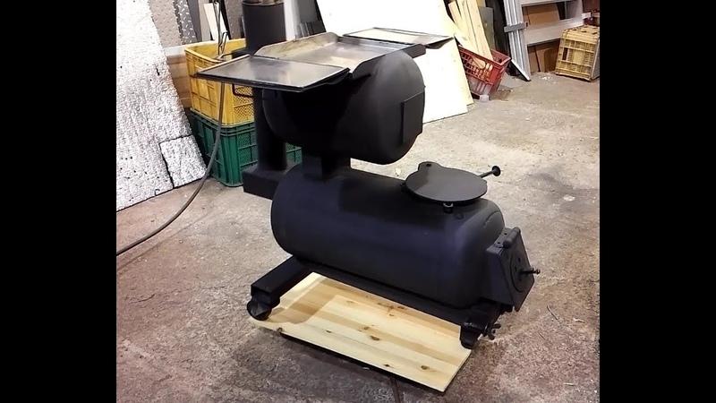 Make a Wood Stove 가스통 화목난로만들기 Ep 1 5