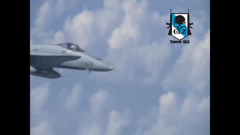 Un Caza Ruso Su-27 expulsa un Caza de la OTAN F-18 - 13 Agosto 2019