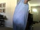Crossdresser wearing new nightie and playtex 18 hour corselette , gartered nylon stockings